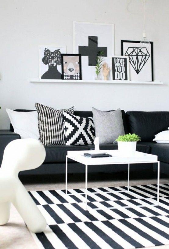 d co noir et blanc el gance assur e. Black Bedroom Furniture Sets. Home Design Ideas