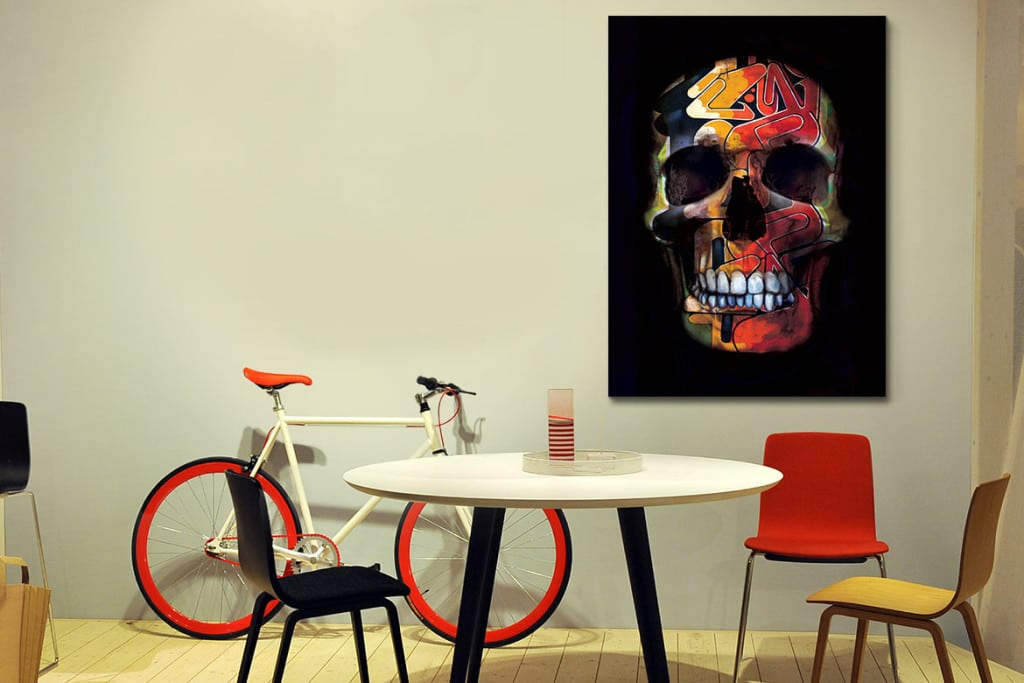 tableau contemporain cranium design