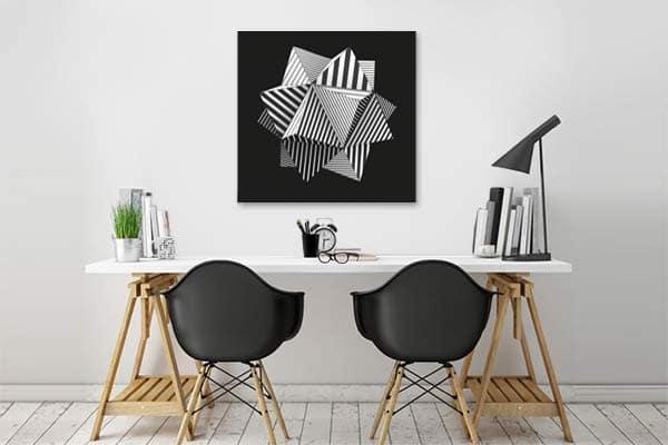 Tableau design noir et blanc graphique