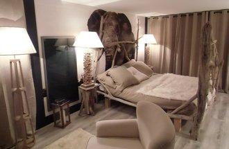 papier peint éléphant Izoa chambre adulte