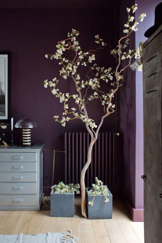 décoration intérieure couleur bordeaux