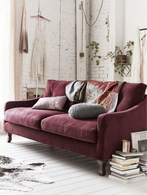 Canapé couleur prune