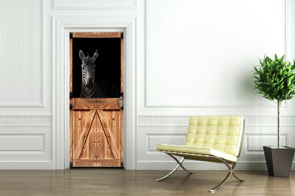 stickers de porte collection animaux blog toile design et moderne d 39 izoa. Black Bedroom Furniture Sets. Home Design Ideas