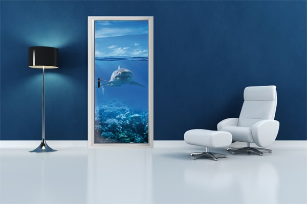 Poster porte requin