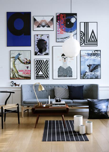 10 Idees Deco Pour Votre Salon Avec Un Tableau Design Blog Izoa