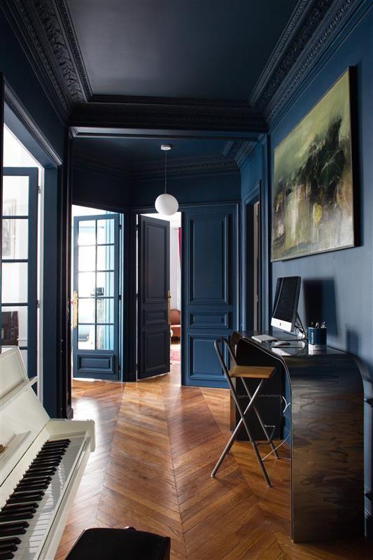 quelle couleur pour une entre sombre atmosph re demeure le blog entr e en mati re quelle. Black Bedroom Furniture Sets. Home Design Ideas