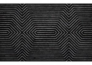 Frank stella abstrait noir