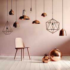 lampes design cuivres