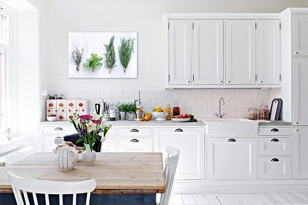 Déco murale cuisine tableau plantes aromatiques