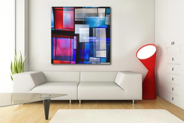 tableau design abstrait Nash