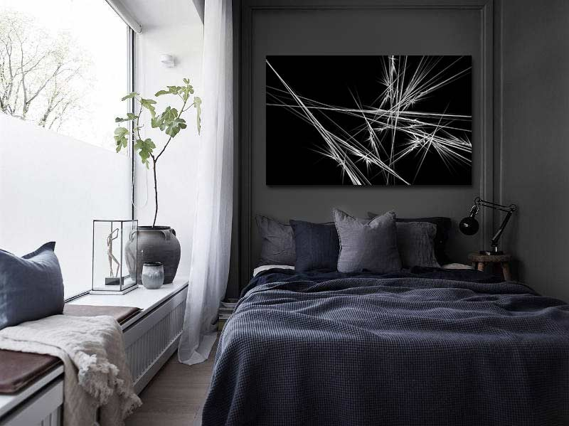 quel tableau d coratif pour un mur sombre. Black Bedroom Furniture Sets. Home Design Ideas