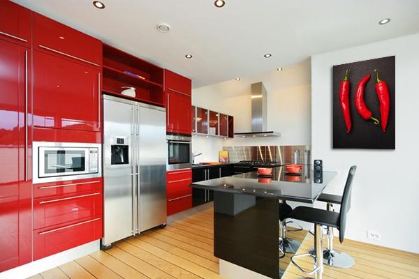 Tableau pour cuisine design Piments