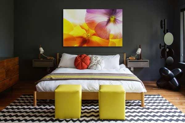 toile déco murale fleurs