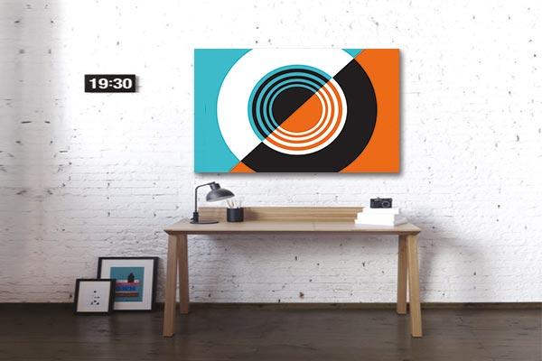 Tableau décoratif abstrait minimaliste retro