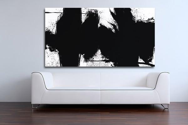 Tableau décoration murale abstrait noir