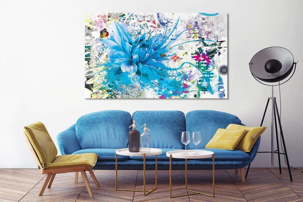 Nouveau tableau fleur divine folie for Tableau decoration com