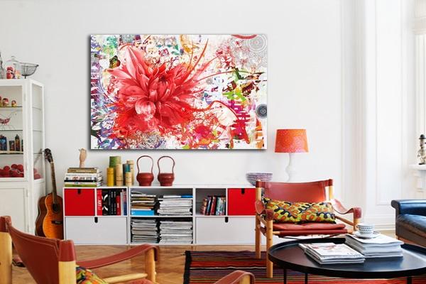 Nouveau tableau fleur divine folie - Tableau moderne salon ...