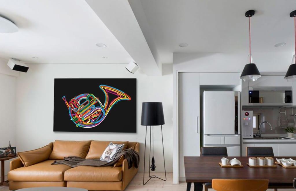 tableau moderne design trompette