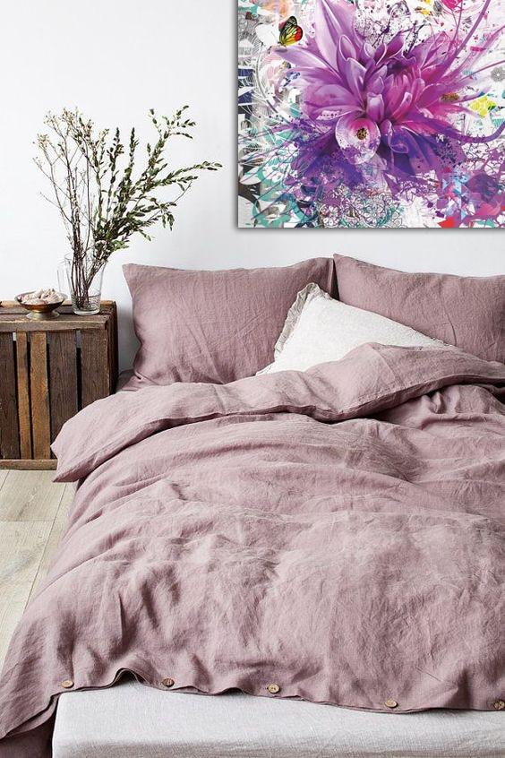 tableau moderne divine folie violet