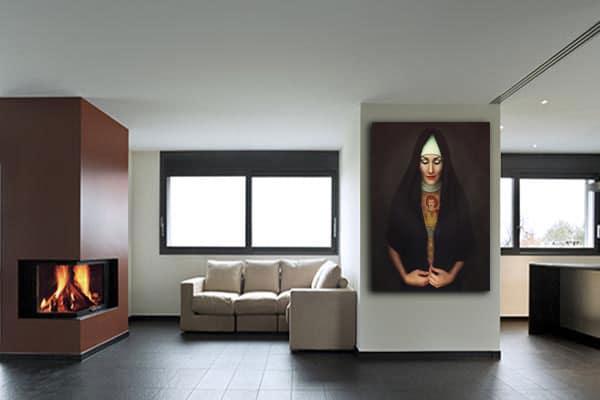 Tableau moderne in magnum we trust nouveaut - Tableau salon moderne ...