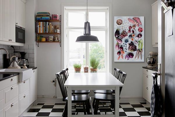 zoom sur le tableau cuisine pour la semaine du go t blog izoa. Black Bedroom Furniture Sets. Home Design Ideas
