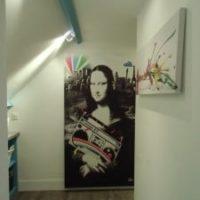 Tableau original Mona Lisa Izoa M6 deco