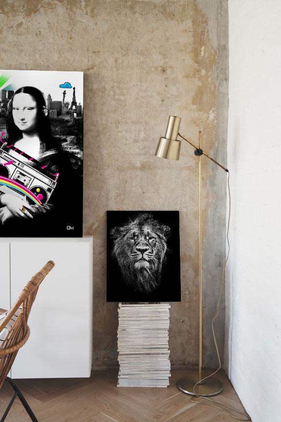 10 id es d co pour votre salon avec un tableau design blog izoa. Black Bedroom Furniture Sets. Home Design Ideas