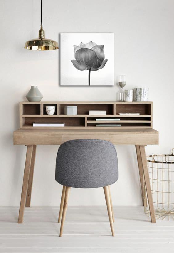toile deco minimaliste fleur
