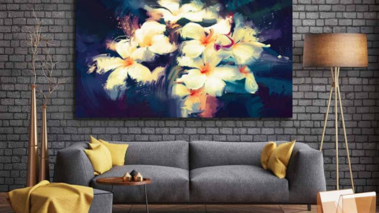 Deco Salon Gris Rose quel tableau décoratif pour un mur sombre - blog izoa