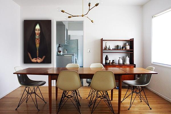 toile originale salle a manger vintage