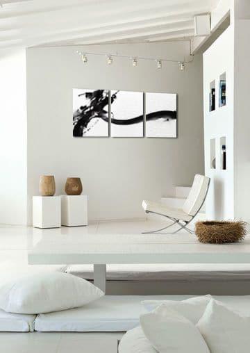 triptyque abstrait minimaliste