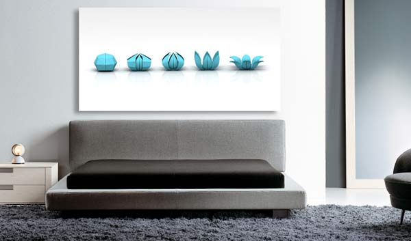 Toile déco chambre minimaliste