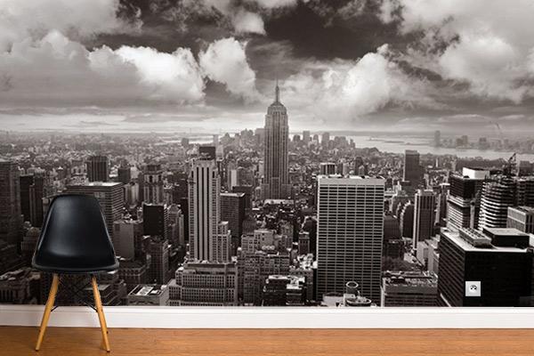 Papier peint noir et blanc New York