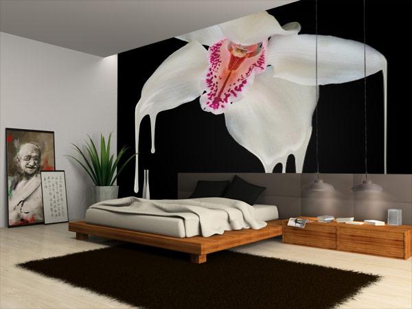Poster géant chambre design orchidée