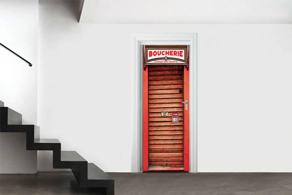 nouveaut trompe l il porte devanture m tallique blog izoa. Black Bedroom Furniture Sets. Home Design Ideas