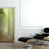 Poster porte forêt