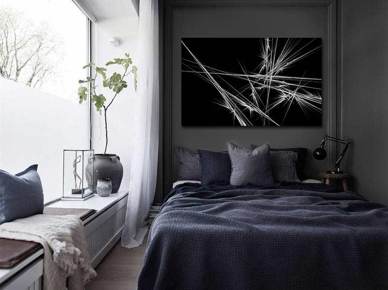 Tableau design pour chambre moderne