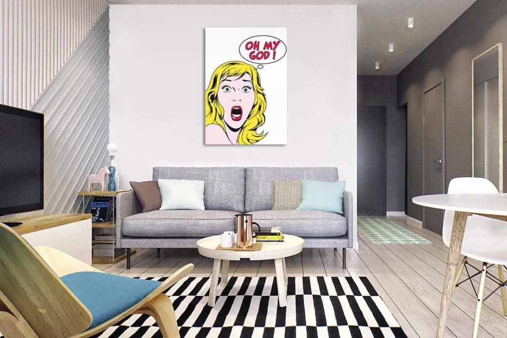 Quel Cadre D Co Avec Un Canap Gris Blog Toile Design Et Moderne