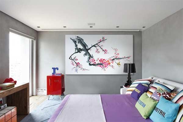 tableau zen déco japonisante chambre