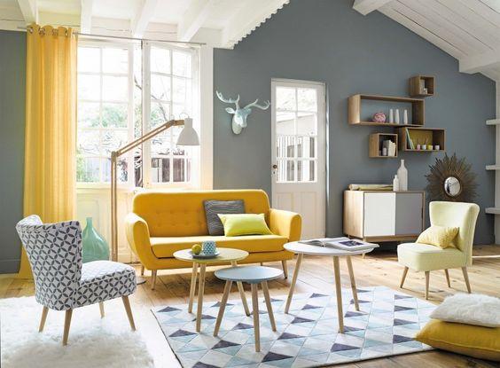 Décoration style scandinave jaune