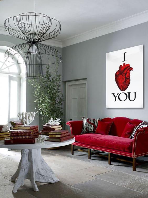 Quel tableau dans une déco rouge ? - Blog Toile Design et Moderne d\'Izoa