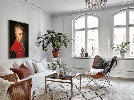 deco salon tableau moderne