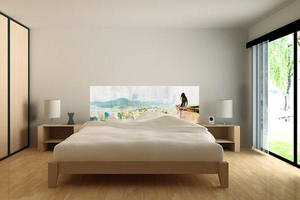 tete de lit tapisserie chambre izoa