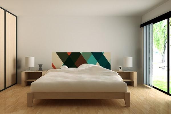 tapisserie pour chambre design tete de lit