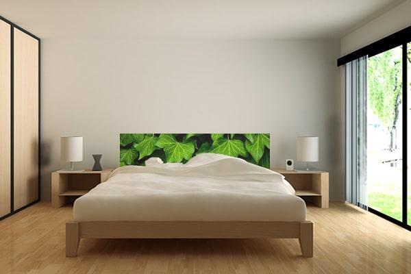 papier peint chambre tete de lit tropical