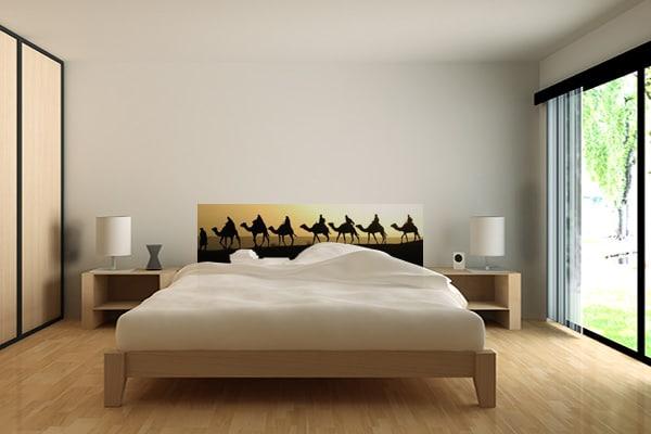 Papier peint tete de lit sahara