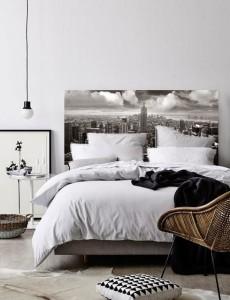 papier peint new york tete de lit. Black Bedroom Furniture Sets. Home Design Ideas