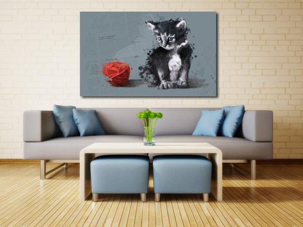décoration murale chaton