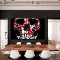 tableau design tete de mort