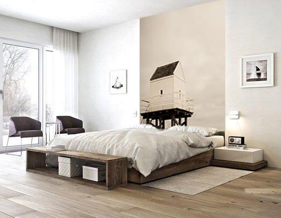 papier peint cabane ur73 montrealeast. Black Bedroom Furniture Sets. Home Design Ideas